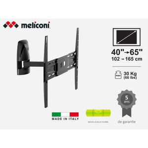 FIXATION - SUPPORT TV MELICONI MB400 MOTION Support mural pour TV de 40