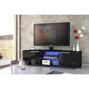 MEUBLE TV STUDIO Meuble TV contemporain poignée en aluminium