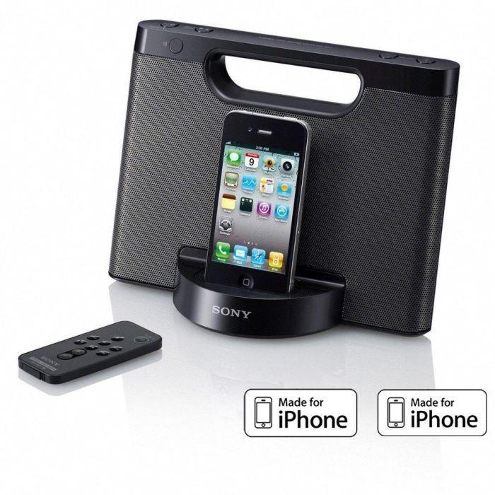 sony rdp m5ip noir station d 39 accueil ipod iphone station d 39 accueil avis et prix pas cher. Black Bedroom Furniture Sets. Home Design Ideas