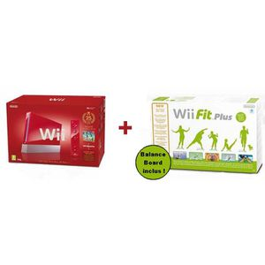 CONSOLE WII Pack Wii New Super Mario Bros + Wii Fit Plus