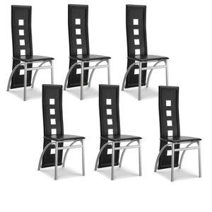 Chaises achat vente chaises pas cher cdiscount - Lot 6 chaises salle a manger ...