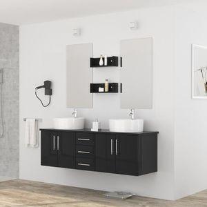 diva ensemble salle de bain double vasque avec mir