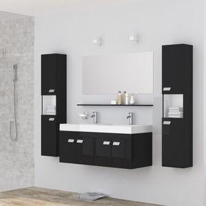 alpos ensemble salle de bain double vasque avec mi - Armoire De Salle De Bain Pas Cher