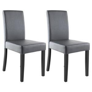 chaise clara lot de 2 chaises de salle manger simili - Chaise De Salle A Manger