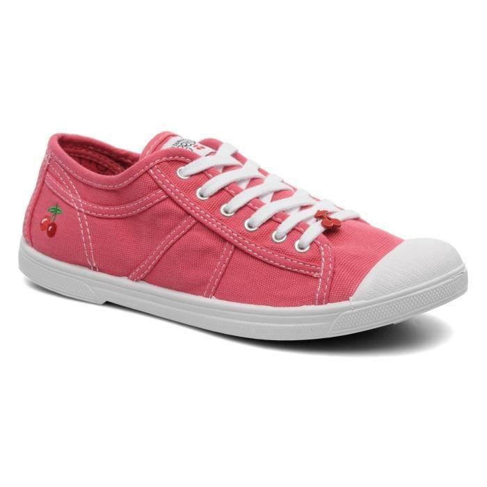 LE TEMPS DES CERISES Baskets BASIC02 Chaussures Femme Rose