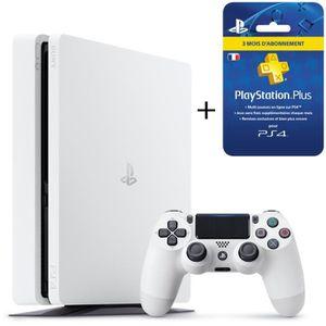 CONSOLE PS4 Nouvelle PS4 Slim 500 Go Glacier White + Abonnemen