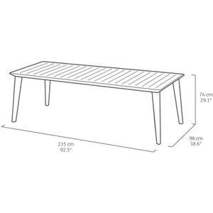 Table de jardin Plastique - résine - Achat / Vente Table de jardin ...