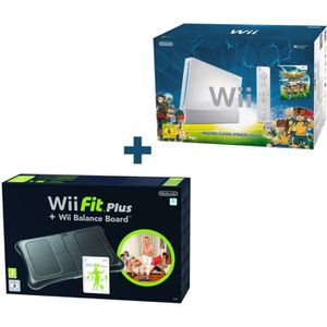 CONSOLE WII PACK INAZUMA ELEVEN STRIKERS + Wii FIT PLUS NOIR