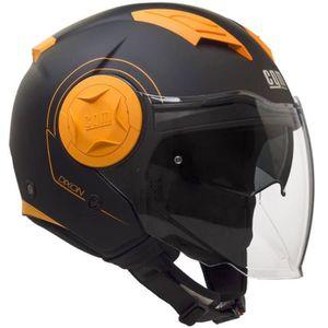 Casque Moto Orange Et Noir Achat Vente Pas Cher