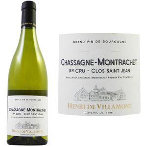 VIN BLANC Henri de Villamont Chassagne 1er Cru Clos Saint...