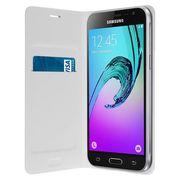 HOUSSE - ÉTUI Samsung Flip Wallet Galaxy J3 Blanc