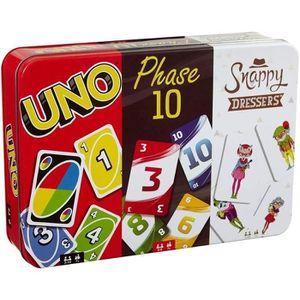 CARTES DE JEU MATTEL GAMES - Coffret Multicartes - 3 Jeux de Car