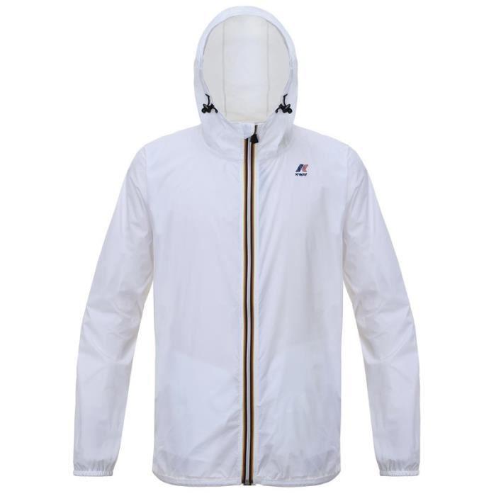 6151fd56068d K-WAY Coupe-vent - Homme - Blanc Blanc - Achat   Vente coupe-vent de ...