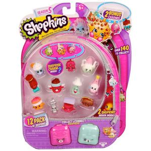 FIGURINE - PERSONNAGE SHOPKINS 5 Blister Pack 12