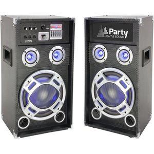 ENCEINTE ET RETOUR PARTY LIGHT & SOUND Système Karaoké actif avec enc