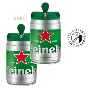 BIÈRE HEINEKEN Lot de 2 Fûts de bière Blonde - Compatibl