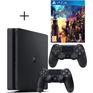 CONSOLE PS4 Pack PS4 : Console PS4 500 Go Noire + Manette Dual