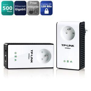 COURANT PORTEUR - CPL TP-Link 2 CPL 500Mbps avec LAN tlpa551kit