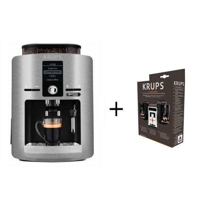 MACHINE À CAFÉ Pack KRUPS YY3069FD Machine à Café Expresso Broyeu