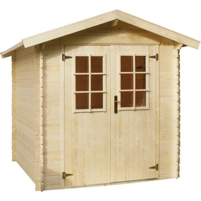 mikka abri de jardin bois 3 45m 19mm achat vente abri jardin chalet abri de jardin. Black Bedroom Furniture Sets. Home Design Ideas