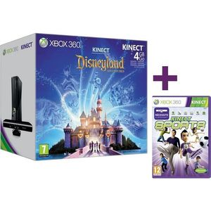 CONSOLE XBOX 360 PACK XBOX 360 4 GO KINECT DISNEY + KINECT SPORTS