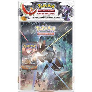 JEU SOCIÉTÉ - PLATEAU POKEMON Pack cahier range-cartes+Booster Pokémon S
