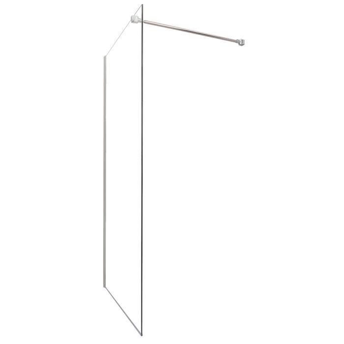 Aqua paroi de douche italienne fixe 100 cm verre tremp 6 mm achat vente porte de - Paroi de douche 100 ...
