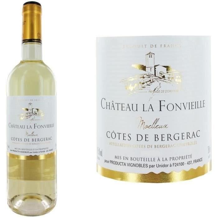 Populaire préféré Château La Fonvieille Côtes de Bergerac Moelleux Vin Blanc du Sud &EY_52