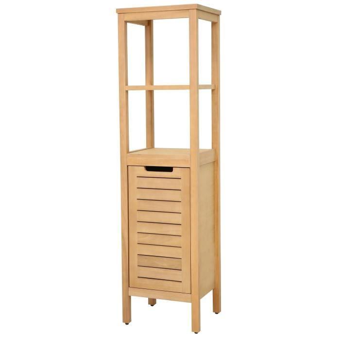 colonne salle de bain bois achat vente colonne salle de bain bois pas cher cdiscount. Black Bedroom Furniture Sets. Home Design Ideas