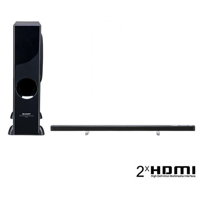 sharp htsl50 barre de son 2 1 puissance 100w rms achat vente barre de son sharp htsl50. Black Bedroom Furniture Sets. Home Design Ideas