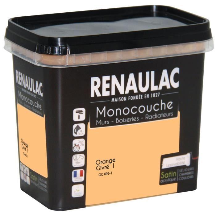 PEINTURE - VERNIS Peinture murale monocouche multi-support 0,75 L or