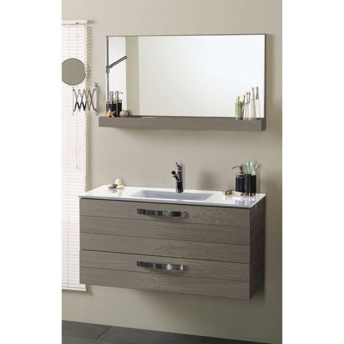 Ensemble salle de bain 3 pi ces ch ne gris achat for Ensemble vasque meuble salle de bain