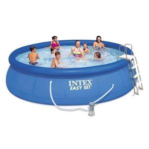 PISCINE INTEX Kit piscine ronde Easy Set 457x107cm - Bleu