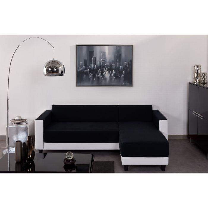canap sofa divan finlandek canap dangle firr bimatire blancnoir - Canape D Angle Noir Et Blanc Pas Cher