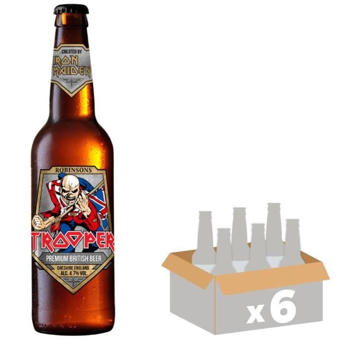 BIÈRE Robinson Trooper Iron Maiden Bière Blonde 0,33 L x