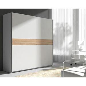 ARMOIRE DE CHAMBRE MAXI Armoire de chambre style contemporain blanc e