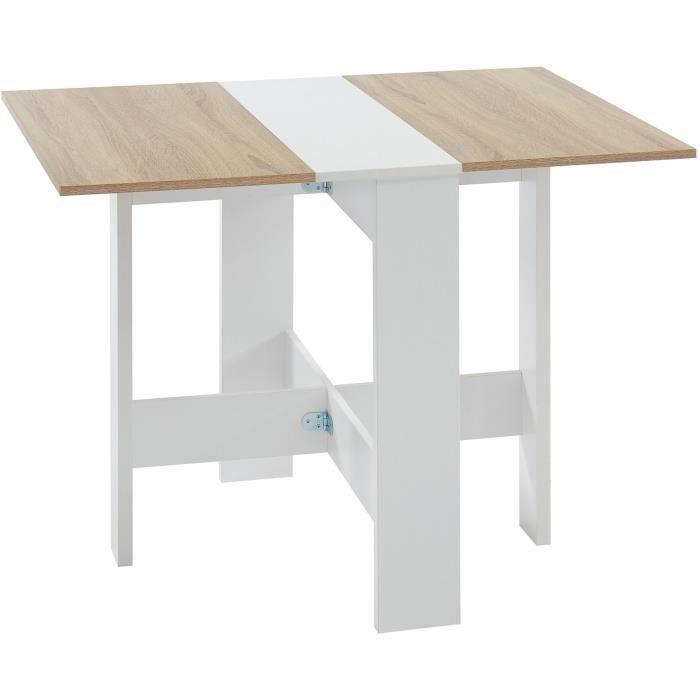 TABLE À MANGER SEULE JUNO Table de séjour pliante 4 personnes - Décor c