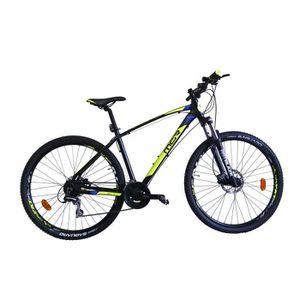 VTT MGR Vélo VTT Cap - Homme - Noir, jaune et bleu