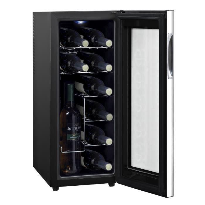 continental edison cecwc12led cave vin de service 12 bouteilles pose libre classe a. Black Bedroom Furniture Sets. Home Design Ideas