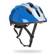 CASQUE DE VÉLO Casque vélo, bleu et blanc, taille : 48 - 52 cm.