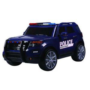 VOITURE ENFANT E-ROAD Voiture de police électrique - Bleu