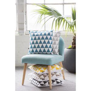 coussin bleu canard achat vente coussin bleu canard pas cher black friday le 24 11 cdiscount. Black Bedroom Furniture Sets. Home Design Ideas