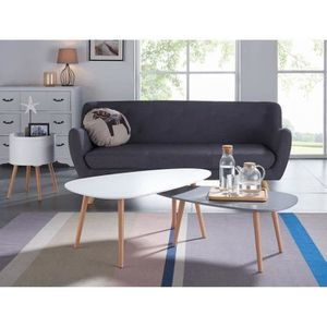 Table basse achat vente table basse pas cher cdiscount - Table basse gigogne scandinave ...
