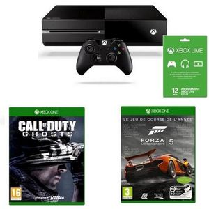 CONSOLE XBOX ONE Xbox One + Forza 5 + Call of Duty Ghost + Live 12M