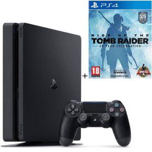 CONSOLE PS4 NOUVEAUTÉ Pack Nouvelle PS4 Slim 500 Go + Rise Of The Tomb R