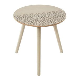 TABLE D'APPOINT SHELLY Table d'appoint ronde style contemporain av