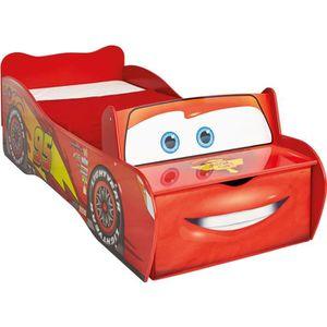 STRUCTURE DE LIT CARS Lit Enfant en bois Flash McQueen avec rangeme