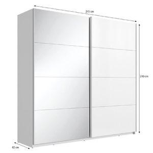 Armoire 3 portes coulissantes achat vente armoire 3 for Soldes miroir contemporain