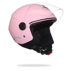 CASQUE MOTO SCOOTER CGM 107A Florence Casque Jet Rose Pastel