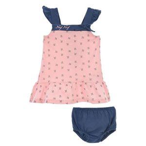 Ensemble de vêtements NAF NAF - Robe Rose Imprimée + Bloomer Marine 100%